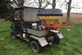 Fitting up a Vicon super flow pendulam spreader to a Kawasaki Mule