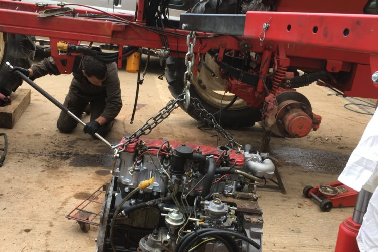 Fitting a new 2.8 MWM engine into a 2500 Agribuggy