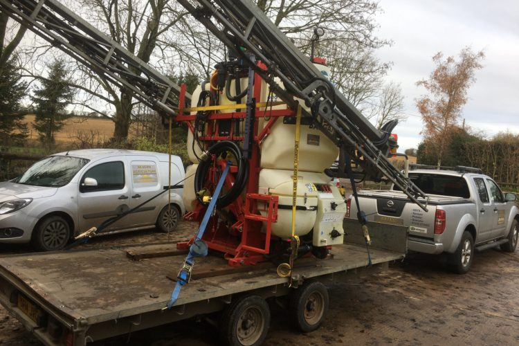 Bargam 24m 1600l mounted sprayer with Arag 400s guidance